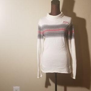 $23 Harley Davidson white striped sweater